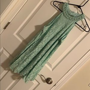Open back Mint Dress